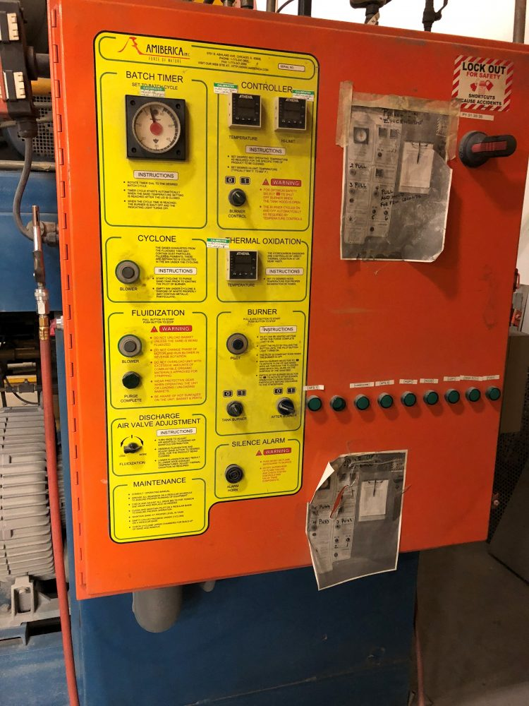 sand stripper electrical panel