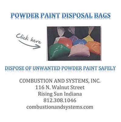 powder coating disposal bags