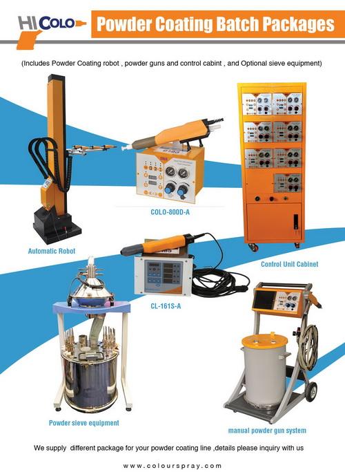 powder coating batch equipment