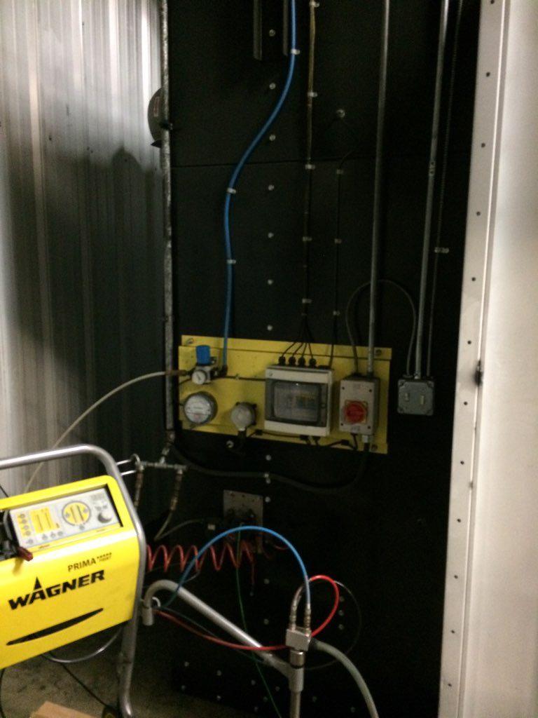 used batch powder coating system