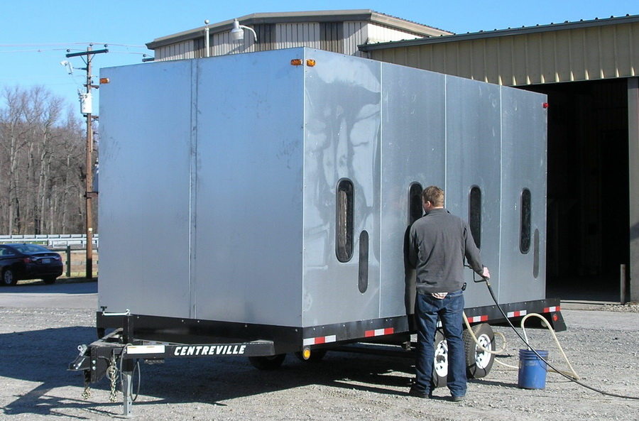 mobile sandblast enclosure