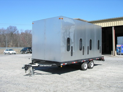 used trailer mounted sandblast unit