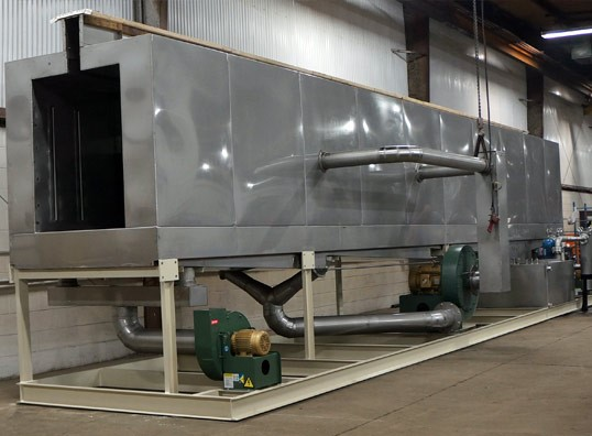 monorail style parts washing system