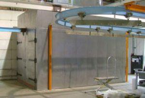 manual conveyor batch powder coating system
