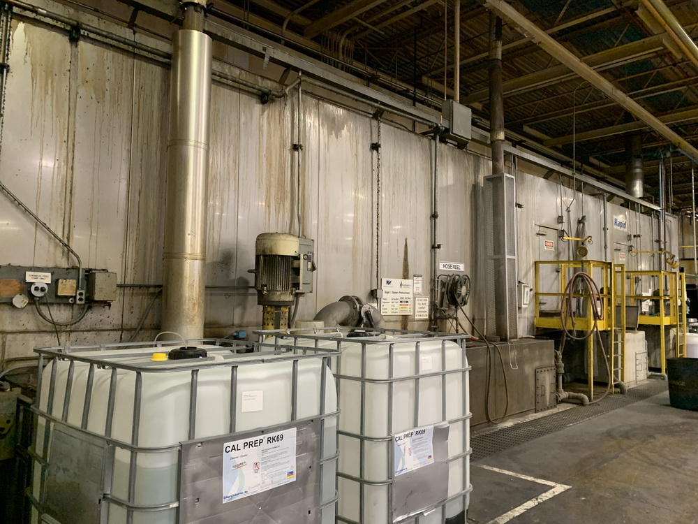 used 3-stage powder coating system