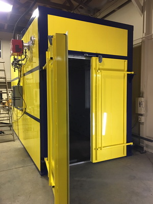 powder coating cure oven made in USA
