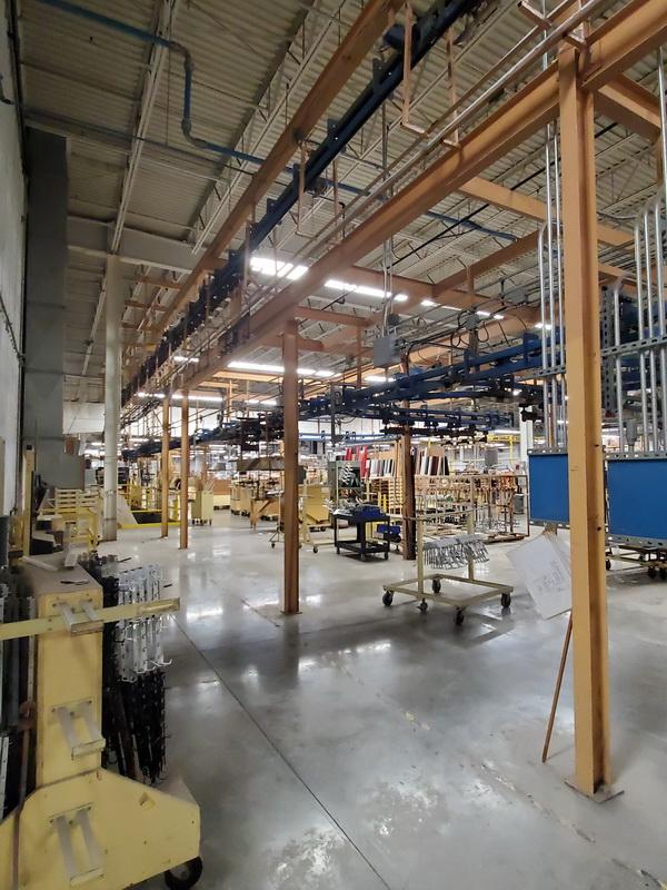 used powder coating equipment conveyor