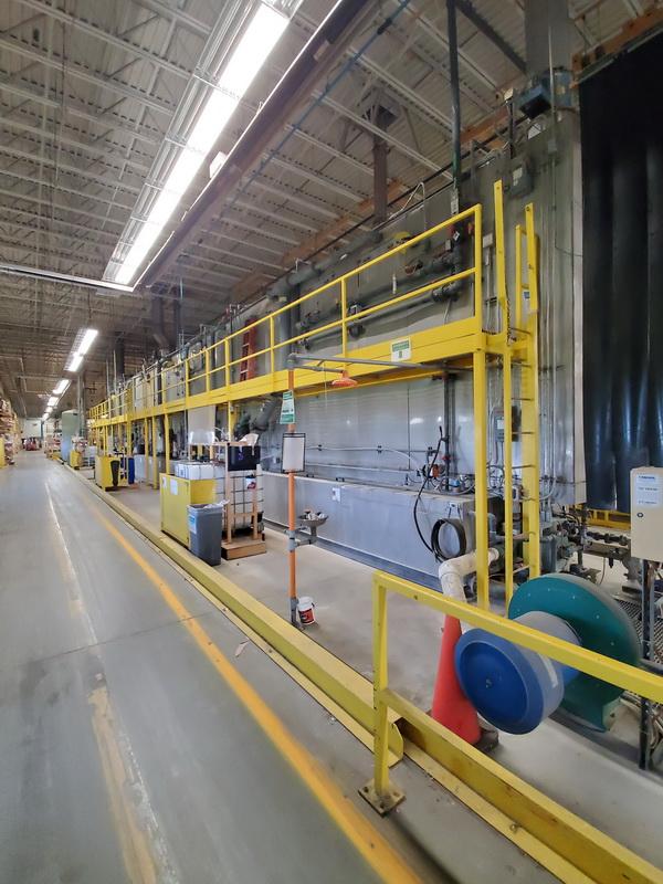 used powder coating equipment pretreatment system